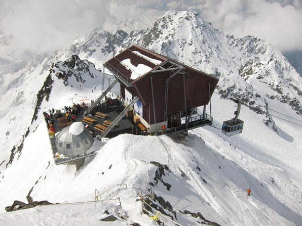 Top station of the Mont Fort cable car, Verbier/Nendaz