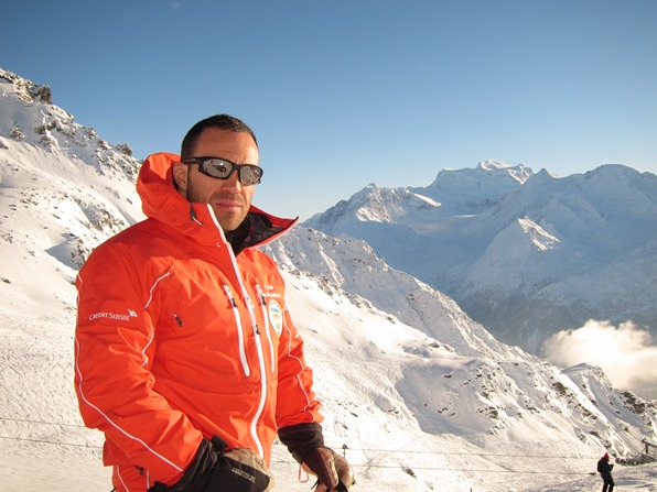 Michael Mason, instructor at the Swiss Ski School in Verbier