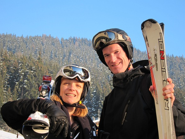 Karine and Conor Lennon from Mountain Radio Verbier
