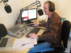 John Bristow, presenter on Verbier Mountain Radio