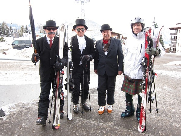 """Mad Jocks and Englishmen"", who have been skiing together for 25 years"