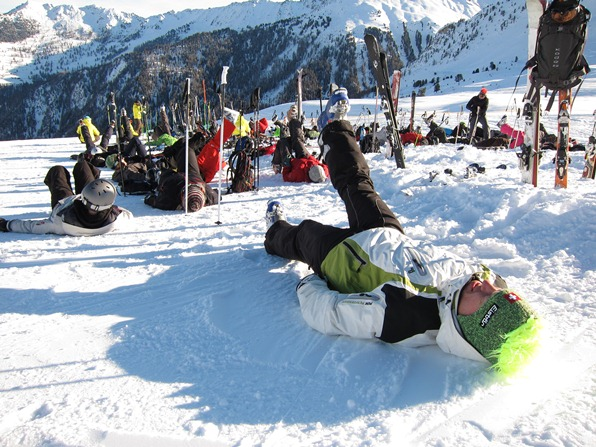 Students on the WSSA gap-year course 2010 warming up before class.