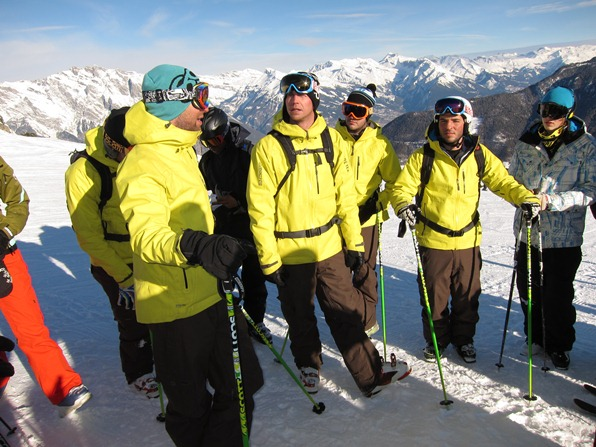 Instructors from the Warren Smith Ski Academy, Verbier