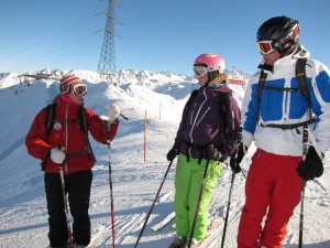 BASI trainer Tess Swallow teaching on the Alpine Level 1 course
