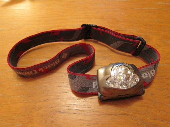 Headlamp - a useful piece of kit for multi-day ski tours