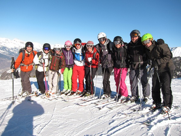 BASI Level 1 ski instructor group in Verbier with instructor Tess Swallow