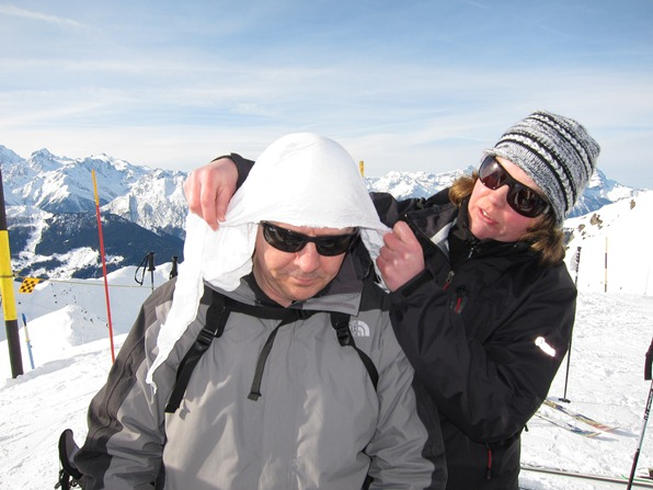 Christine Gillespie, ski patroller from Glencoe, gives a first-aid course in Verbier