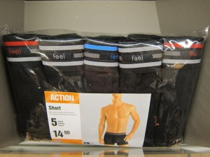 """Feel"" range of underpants on sale in Migros, Verbier"