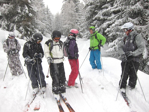 WSSA gap-year ski instructor course in Verbier - fresh snow