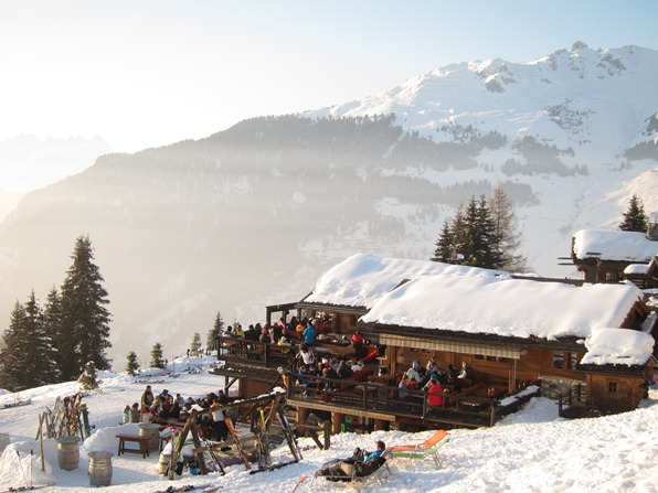 The restaurant Chez Dany in Clambin, above Verbier