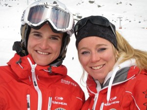 Emmanuelle Luisier (left) and Chloé Darbellay, ski instructors