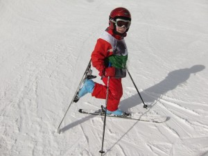 Student of Emmanuelle Luisier and Chloé Darbellay, ski instructors, Verbier