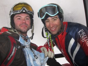 WSSA instructor Rob Stanford (right) with Will, a gap-year trainee ski instructor