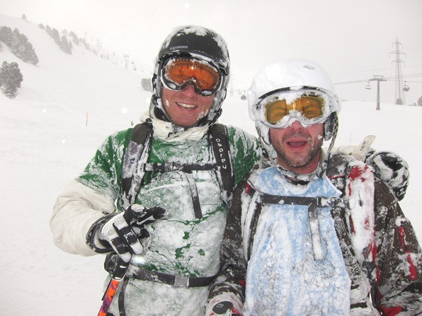 Students on a WSSA gap-year ski-instructor course, Verbier - on a powder day