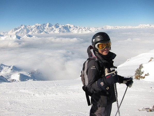 Gap-year ski instructor trainee Susie