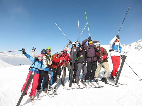 Students on a WSSA gap-year ski instructor course, Verbier
