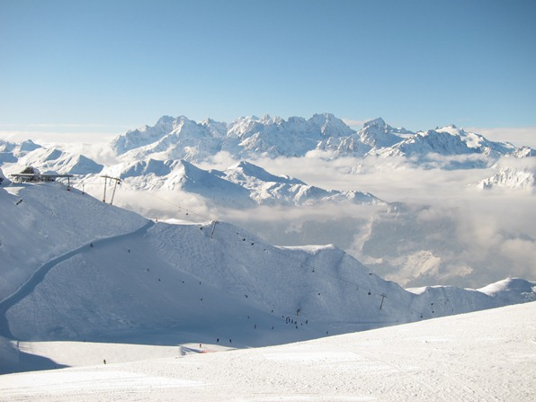 View towards Fontanet from Attelas, Verbier