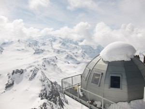 Igloo bar at the top of the Mont Fort cable car, Verbier