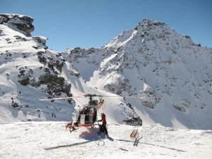 Helicopter at Xtreme Verbier, Freeride World Tour