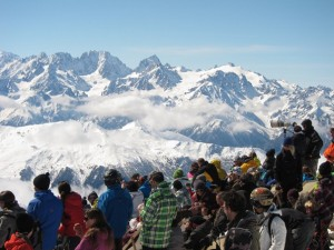Spectators at the Xtreme Verbier, Freeride World Tour
