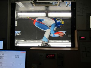 James Bedding in the wind tunnel