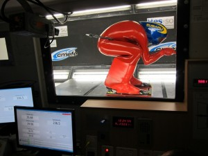 Philippe May in the wind tunnel