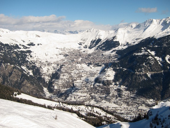 View from Bruson across to Verbier