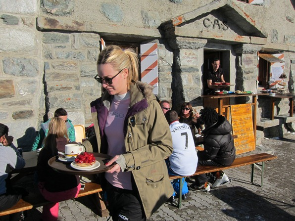 Lunch at the Cabane de Tortin, Verbier