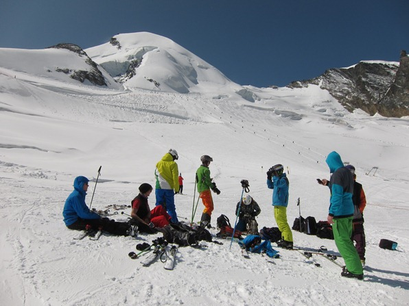 Warren Smith Ski Academy summer course on the Fee Glacier in Saas-Fee