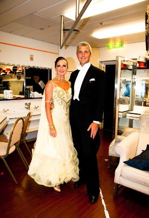 Julie and Simon Curtin, resident dance instructors on P&O Oriana's Strictly Come Dancing cruise
