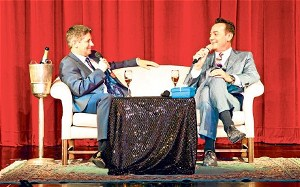Craig Revel Horwood interviewed in the theatre of P&O Oriana