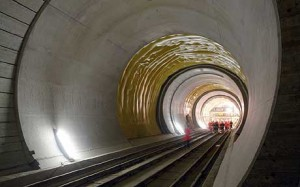 AlpTransit Gotthard Base Tunnel under construction